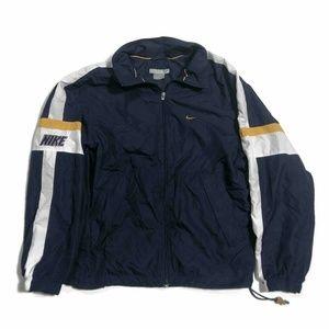 Nike Mens Track Jacket Navy Blue Zip Windbreaker M